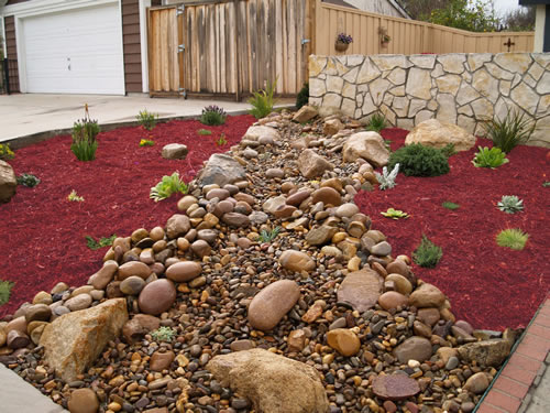 Red Mulch Landscape